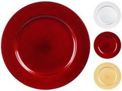 Farfurie decorativa 33сm, platic, 3 culori