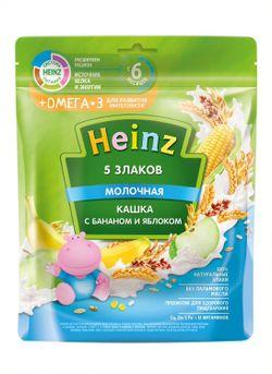 Terci Heinz Omega3 din cereale cu lapte, banane și mere (6+ luni), 200gr.