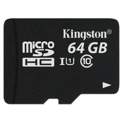 KINGSTON MicroSD 64GB SDCS/64GB Class 10
