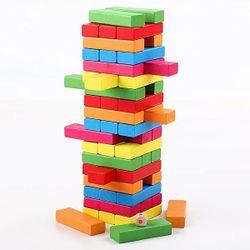 Настольная игра Дженга цветная, код 118608