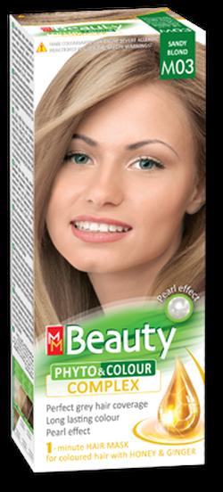 Vopsea p/u păr, SOLVEX MM Beauty, 125 ml., M03 - Blond nisipiu
