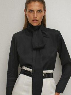 Блуза Massimo Dutti Чёрный 5143/583/800