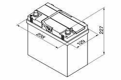 Bosch S4 12V 45Ah 330EN 238x129x227 +/-
