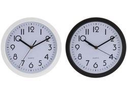 Часы настенные круглые 22.5cm, H4cm, цвет черный/белый