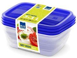 cumpără Container alimentare KIS 37189 Набор Vedo 3шт, 1l, 19X14X6cm în Chișinău