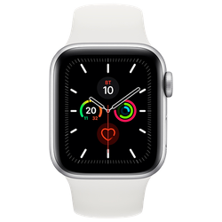 Apple Watch 5 44mm (MWVD2), Silver / White