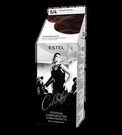 Краска для волос, ESTEL Celebrity, 125 мл., 5/4 - Темный шоколад