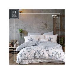 Lenjerie de pat 2pers NH Poplin Eylul, bumbac