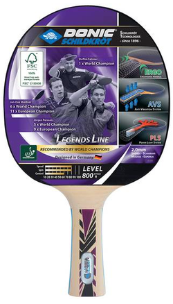 Paleta tenis de masa Donic Legends 800 FSC 754425, 2.0 mm, FSC-wood (3192)