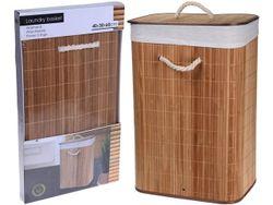 Корзина плетеная с крышкой 40X30cm H60cm натуральная, бамбук