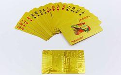 Игральные карты золотые (54 шт., 0.28 мм) Euro Gold 500 IG-4567 (3832)
