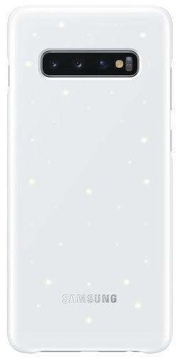 купить Чехол для моб.устройства Samsung EF-KG975 LED Cover S10+ White в Кишинёве