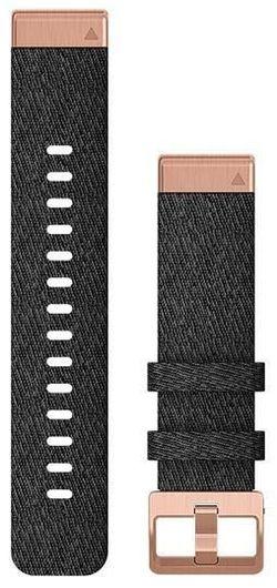 cumpără Accesoriu pentru aparat mobil Garmin QuickFit fenix 6s 20mm Heathered Black Nylon Band w/Rose Gold în Chișinău