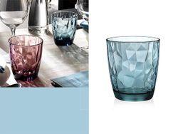 Стакан для воды Diamond 300ml, голубой