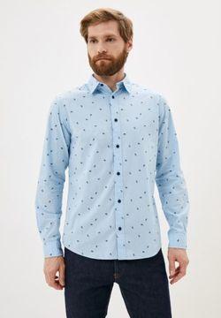 Рубашка JACK&JONES Голубой с принтом