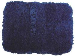 Covoras pentru baie 50X70cm cu memorie albastru, microfibra