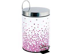Cos pentru gunoi cu pedala 3l Brest roz, inox