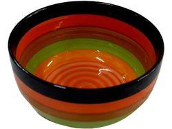 Салатница керамическая 20cm разноцветные полоски