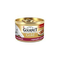 Gourmet Gold cu pui si ficat 85gr