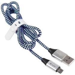 cumpără Cablu telefon mobil Tracer USB 2.0 AM - micro 1,0m black-blue în Chișinău