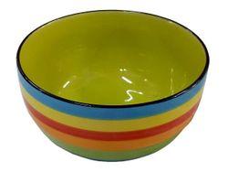 Salatiera 17.6cm dungi multicolore (albastra), din ceramica