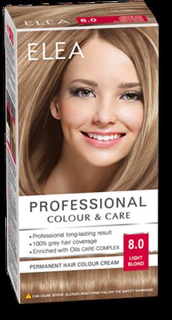 Краска для волос,SOLVEX Elea, 138 мл., 8.0 - Светло-русый