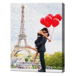 Алмазная мозаика + роспись по цифрам 40х50 см Поцелуи у Эйфелевой башни YHDGJ74999
