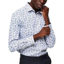 Рубашка SELECTED Белый с принтом 16058640