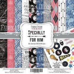 Set de hârtie dublă față de la Fabrika Decoru, 30,5x30,5 cm, 10 foi