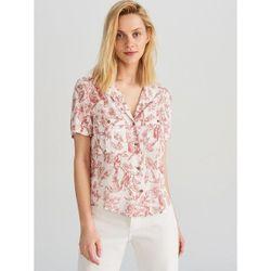 Блуза RESERVED Белый с принтом