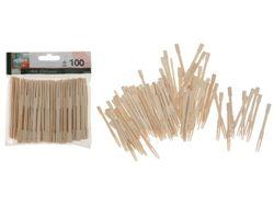 Набор шпажек для канапе EH 100шт, 9cm, бамбук, блистер