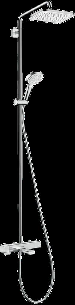 Sistema de dus Croma E Showerpipe 280 1jet cu termostat pentru cada