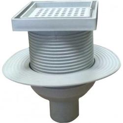 Комплект: Высокий трап для плитки + вертикальный выходной разъем 50 мм (0121292 + 0121296)