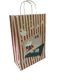 Бумажные пакеты новогодние  22*10*32 cm