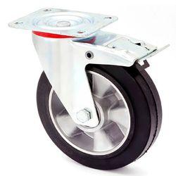 Колесо поворотное с тормозом – Ø200mm,металлические диски