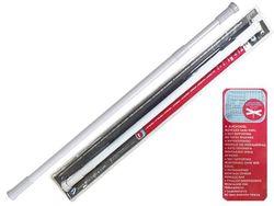 Tija glisanta pentru perdea MSV 70-120cm alba, aluminiu