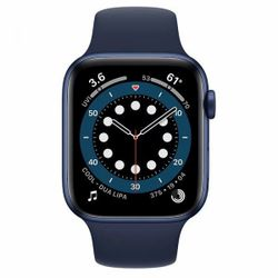 Apple Watch Series 6 GPS, 40mm Aluminum Case with Deep Navy Sport Band