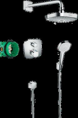 Sistem de duș cu montarea ascunsa hansgrohe Croma Select E, cu termostat Ecostat E