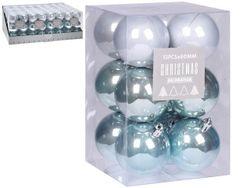 Набор шаров 12X60mm в коробке, пластик,