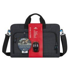RivaCase, Wireless Mouse Black (8058)