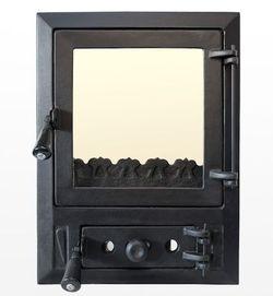 Дверца чугунная со стеклом Weekend - Modern mijlociu
