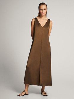 Платье Massimo Dutti Темно зеленый 6602/532/506