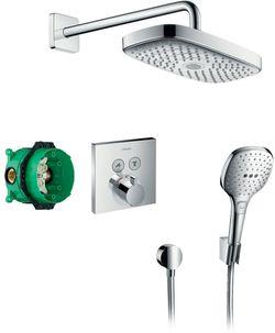 Sistem de duș cu montarea ascunsa hansgrohe Raindance Select E, cu termostat ShowerSelect