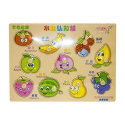 Puzzle incastru  fructe, cod 111636