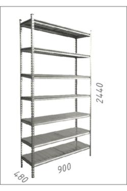 Стеллаж оцинкованный металлический Gama Box 900Wx480Dx2440 Hмм, 7 полки/МРВ