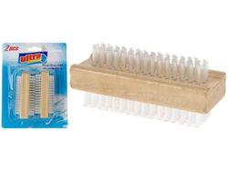 Perii pentru unghii Ultra Clean 2buc, din lemn