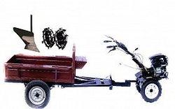 Набор мотоблок TECHNOWORKER HB 700RS PRO+ Прицеп RK500 + плуг простой + металлические колеса 4*8