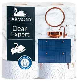 Полотенца бумажные Harmony Clean Expert XXL 2 слоя 35м*2
