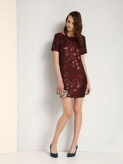 Платье TOP SECRET Красный/Черный ssu1700