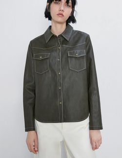 Блуза ZARA Зеленый 3046/262/505
